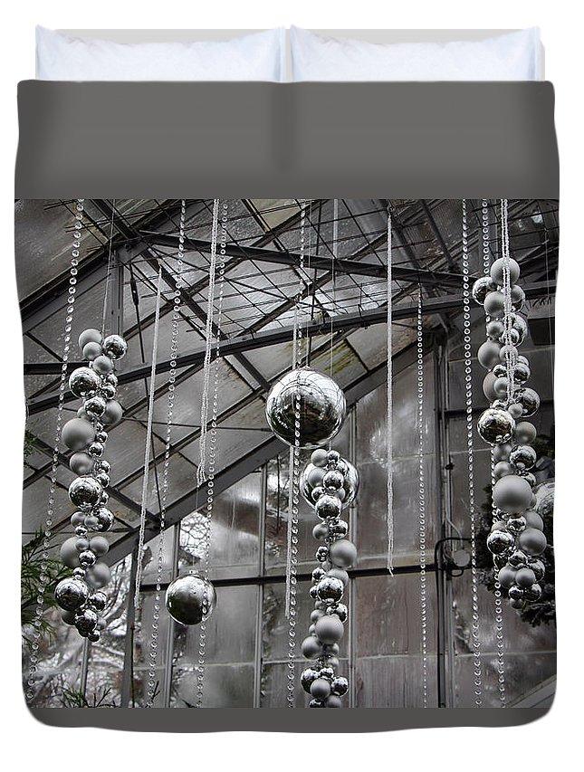 Black Duvet Cover featuring the photograph Balls by Munir Alawi