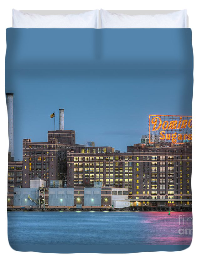 Clarence Holmes Duvet Cover featuring the photograph Baltimore Domino Sugars Plant I by Clarence Holmes