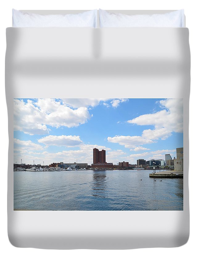 Baltimore Duvet Cover featuring the photograph Baltimore Harbor by Bill Cannon