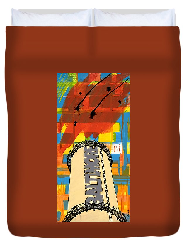 Baltimore Duvet Cover featuring the painting Baltimore by Salvadore Delvisco
