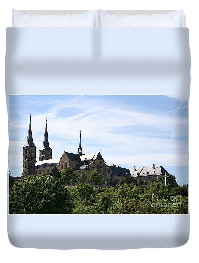 Church Duvet Cover featuring the photograph Bamberg Michelsberg - Germany by Christiane Schulze Art And Photography