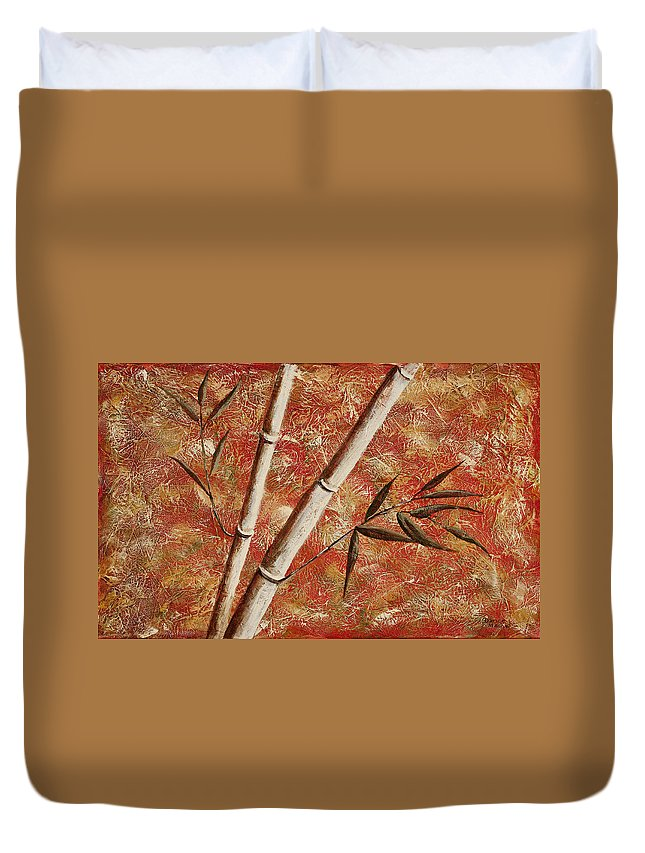 Bamboo Duvet Cover featuring the painting Bamboo 2 by Darice Machel McGuire
