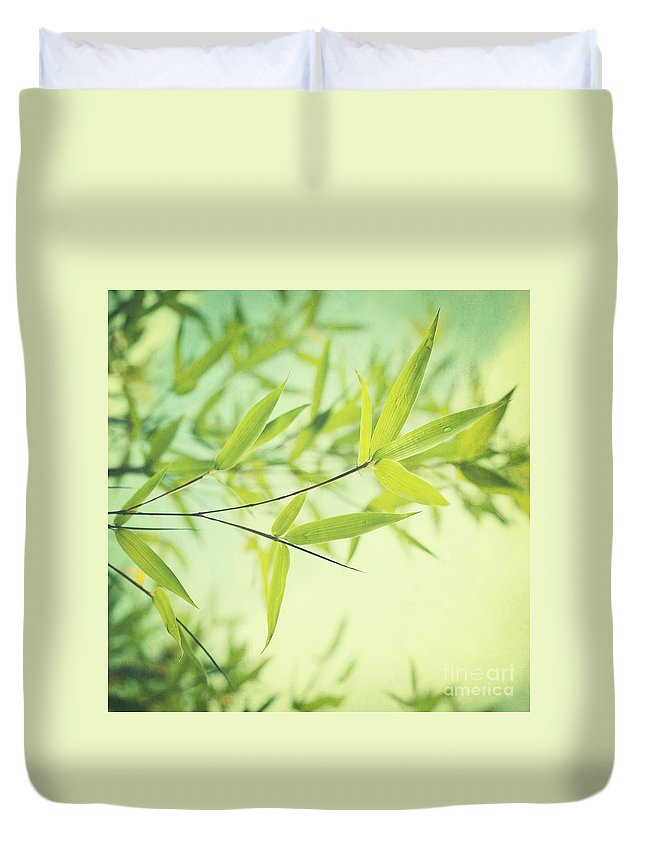 Bamboo Duvet Cover featuring the photograph Bamboo In The Sun by Priska Wettstein