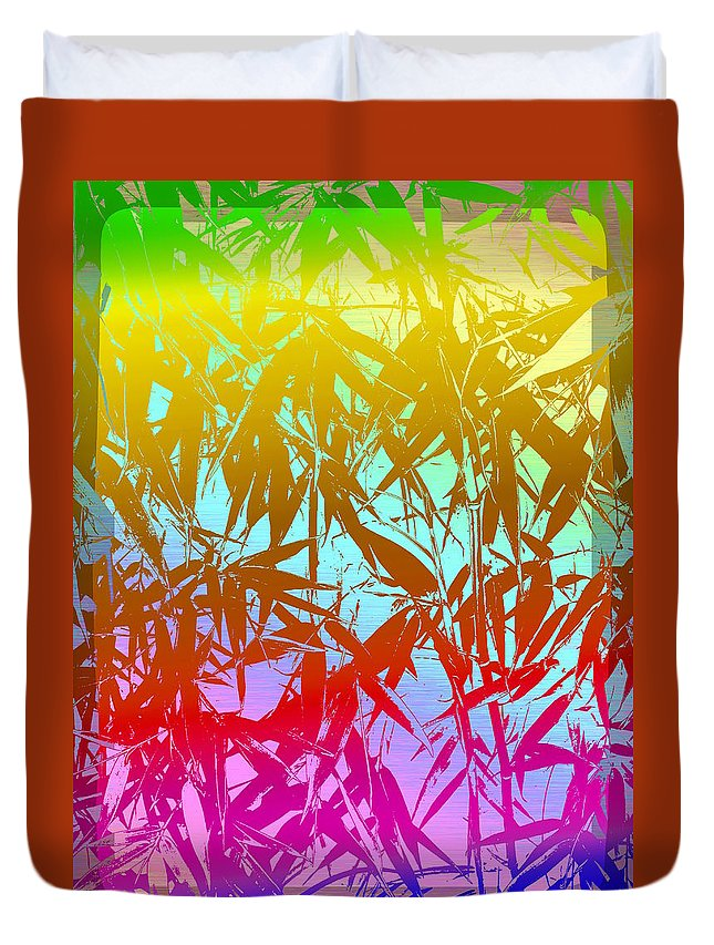 Bamboo Duvet Cover featuring the digital art Bamboo Study 7 by Tim Allen