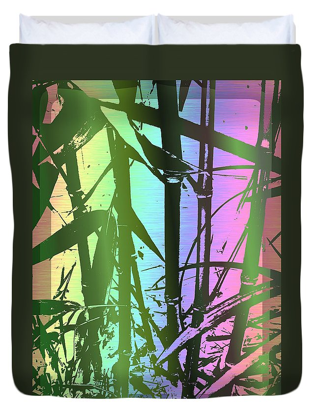 Bamboo Duvet Cover featuring the digital art Bamboo Study 8 by Tim Allen