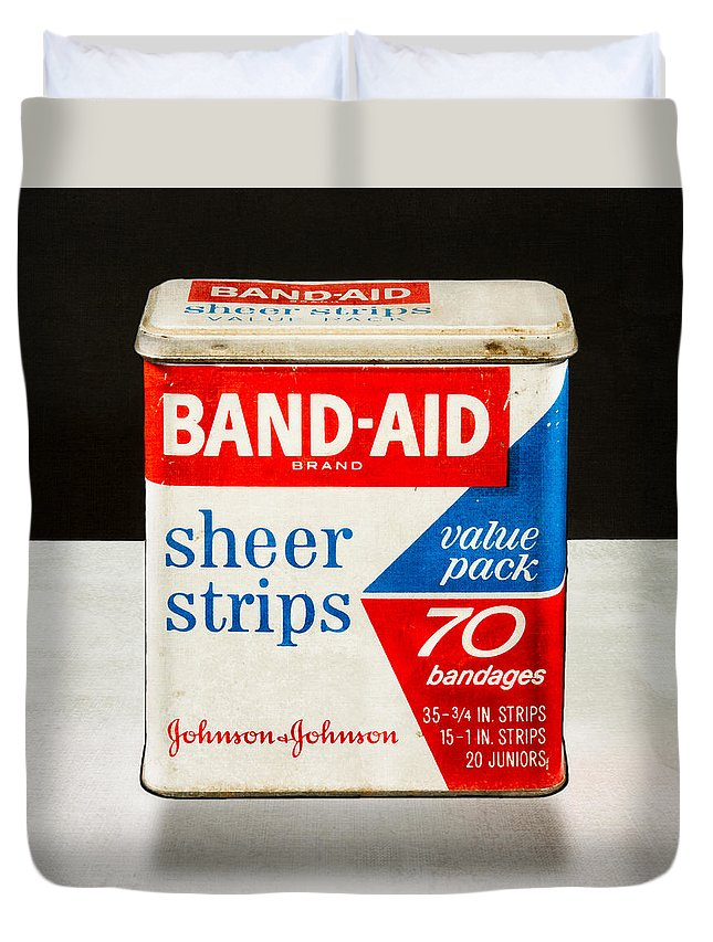 Band-aid Duvet Cover featuring the photograph Band-aid Box by Yo Pedro