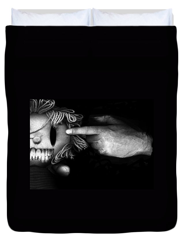 Surreal Duvet Cover featuring the photograph Bang by Johan Lilja