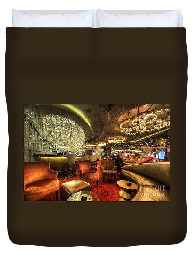 Art Duvet Cover featuring the photograph Bar Lounge by Yhun Suarez