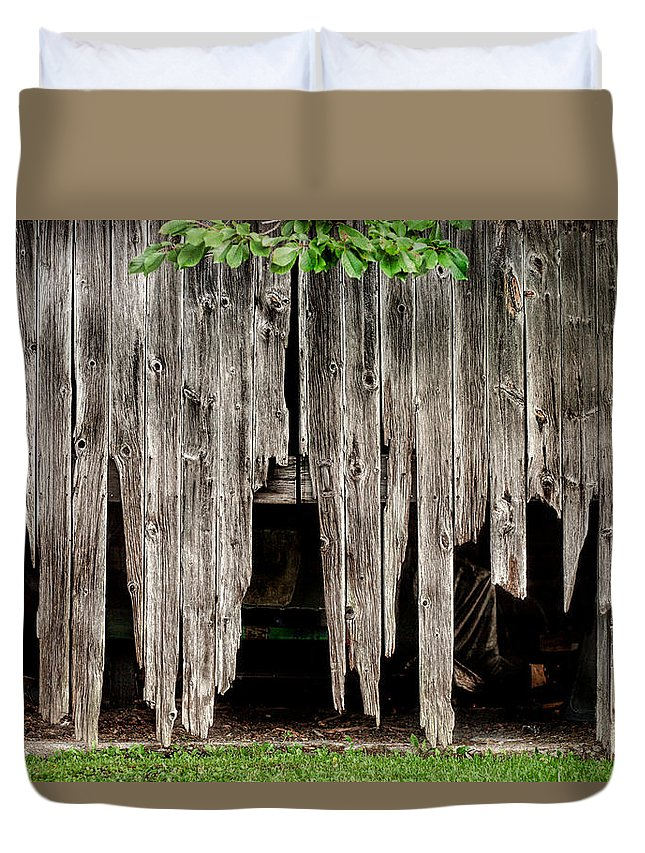 Barns Duvet Cover featuring the photograph Barn Boards - Rustic Decor by Gary Heller