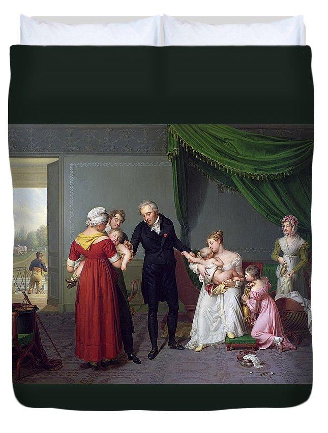 Baron Duvet Cover featuring the painting Baron Jean Louis Alibert by Constant Joseph Desbordes