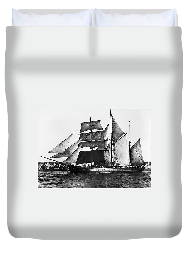 1871 Duvet Cover featuring the photograph Barquentine, 1871 by Granger