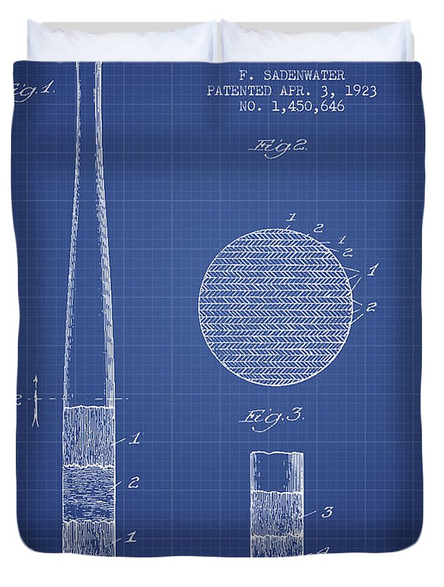 Baseball bat patent from 1923 blueprint duvet cover for sale by baseball duvet cover featuring the drawing baseball bat patent from 1923 blueprint by aged pixel malvernweather Images