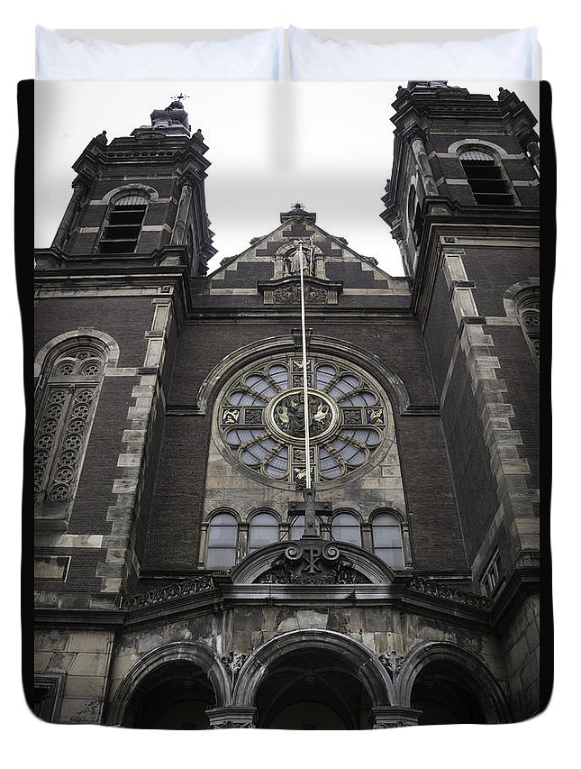 2014 Duvet Cover featuring the photograph Basilica Of St Nicholas II Amsterdam by Teresa Mucha