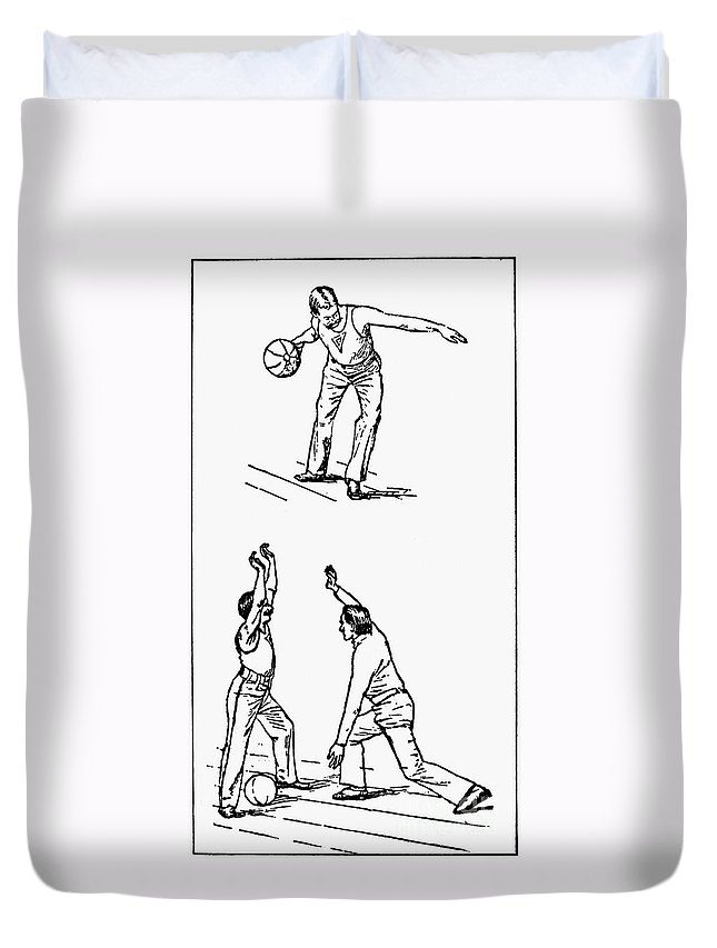 1893 Duvet Cover featuring the photograph Basketball, 1893 by Granger