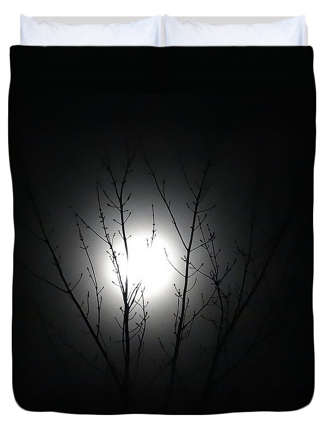 Nh Duvet Cover featuring the photograph Bathed In Moonlight by Mary Vinagro