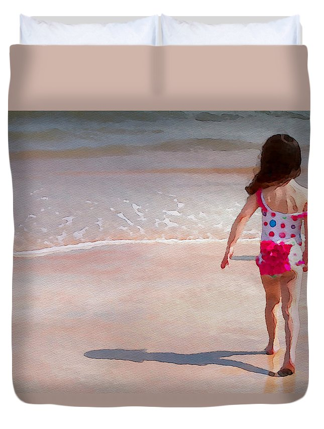 Girl Duvet Cover featuring the photograph Bathing Beauty Two by Alice Gipson