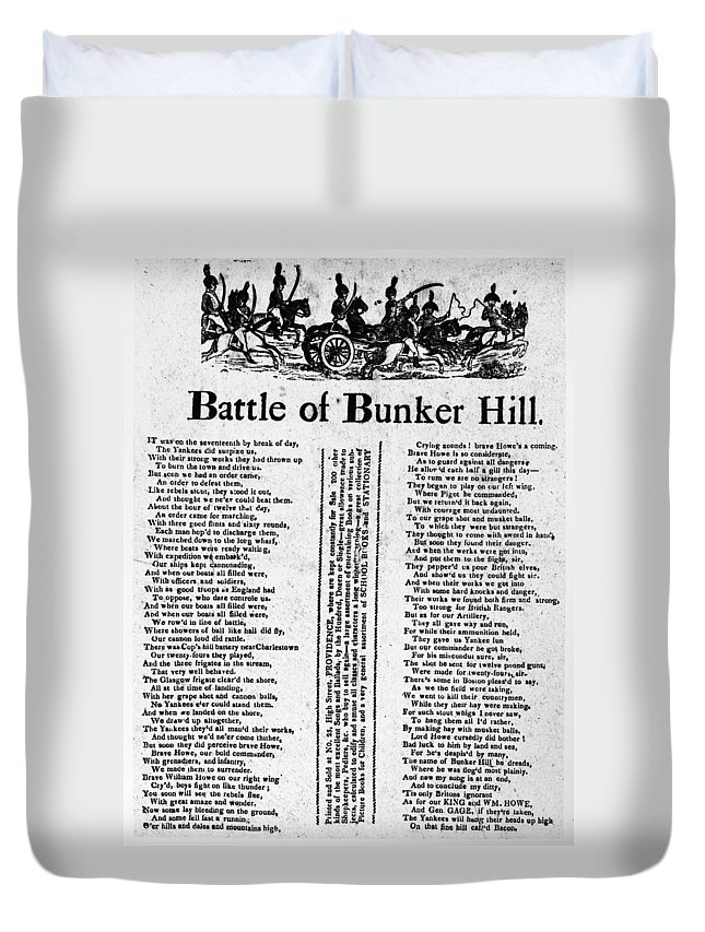 1775 Duvet Cover featuring the photograph Battle Of Bunker Hill by Granger