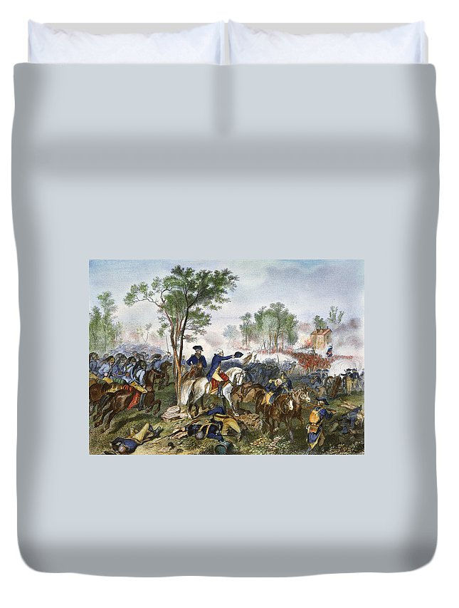 1781 Duvet Cover featuring the photograph Battle Of Eutaw Springs by Granger