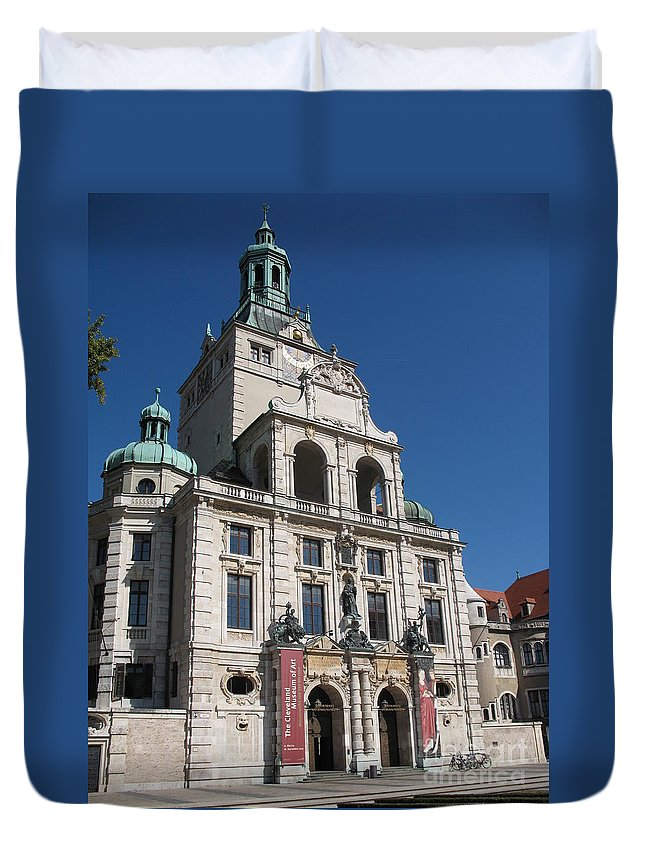 Museum Duvet Cover featuring the photograph Bavarian National Museum by Christiane Schulze Art And Photography