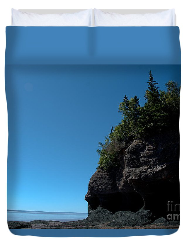Duvet Cover featuring the photograph Bay Of Fundy Landmark by Cheryl Baxter