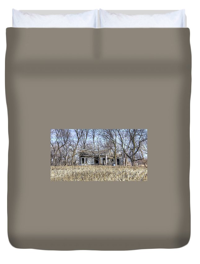 Abandoned Duvet Cover featuring the photograph Bay Window by M Dale