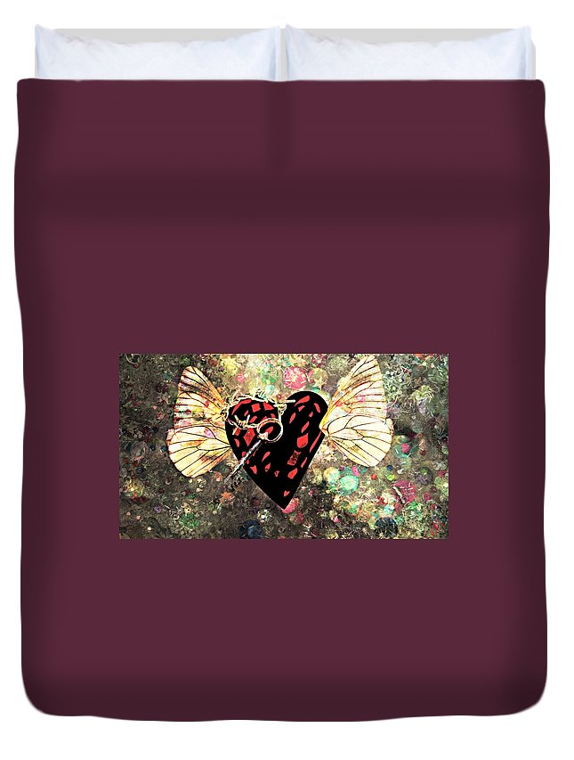 Valentines Duvet Cover featuring the photograph Be My Valentine by Ally White