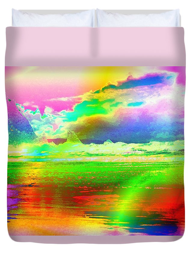 Digital Duvet Cover featuring the photograph Beach Abstract by Jeff Swan