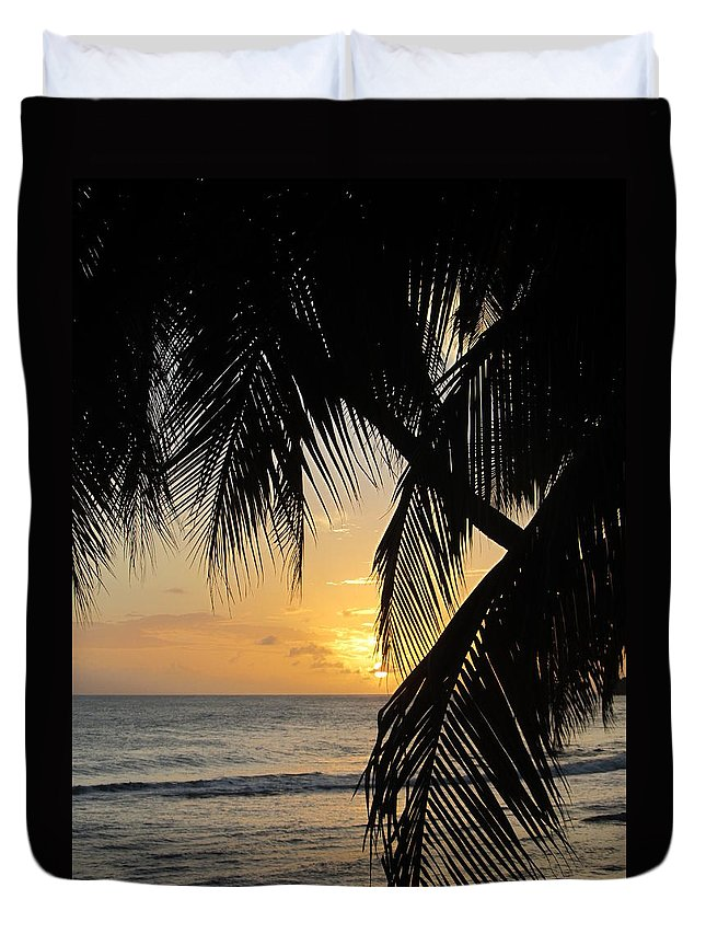 Beach Duvet Cover featuring the photograph Beach At Sunset 1 by Anita Burgermeister