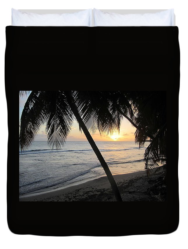 Beach Duvet Cover featuring the photograph Beach At Sunset 3 by Anita Burgermeister
