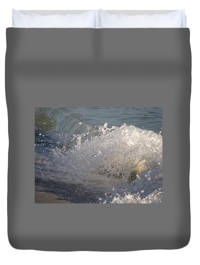 Duvet Cover featuring the photograph Beach Breaker by Kimberly Mohlenhoff