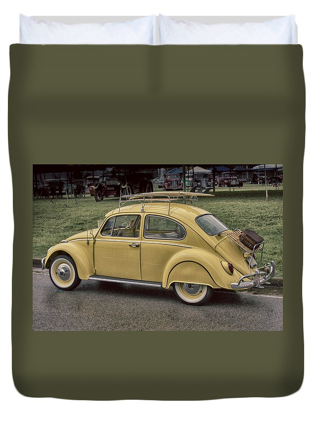 American Duvet Cover featuring the photograph Beach Buggy by Jack R Perry