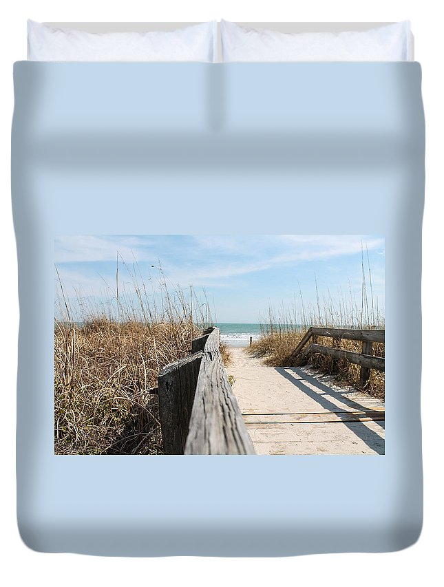 Beach Duvet Cover featuring the photograph Beach Day by Jessica Brown