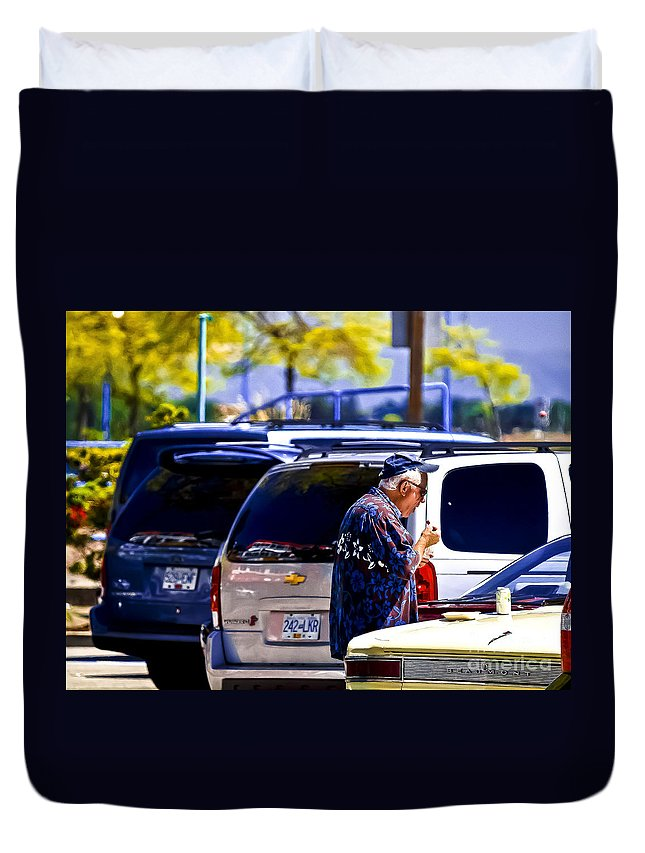 Parking Lot Duvet Cover featuring the photograph Beach Days by David Fabian