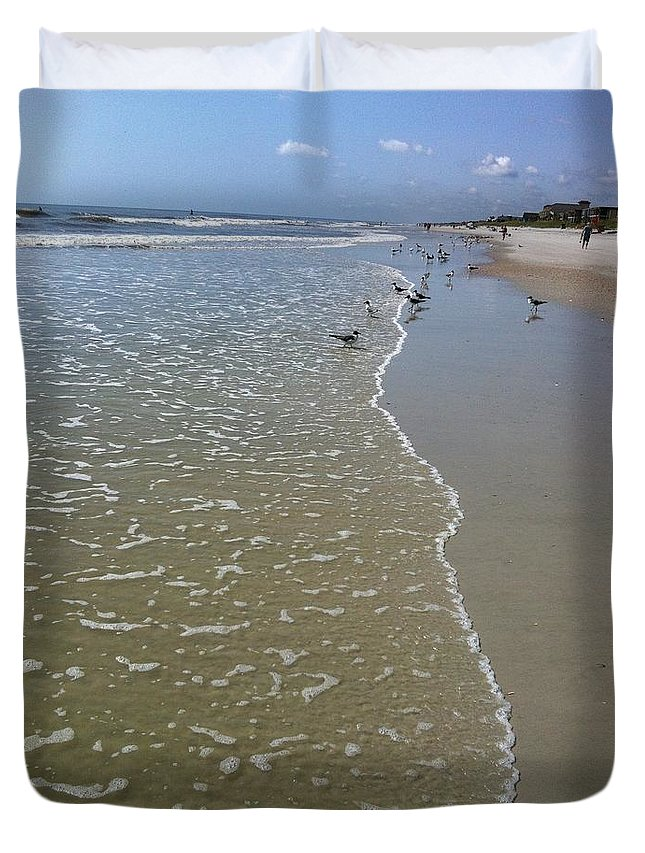 Beach Duvet Cover featuring the photograph Beach Days by Marian Palucci-Lonzetta