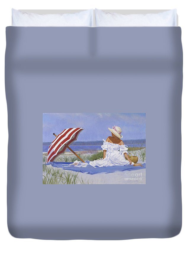 Impressionist Duvet Cover featuring the painting Beach Dreams by Candace Lovely