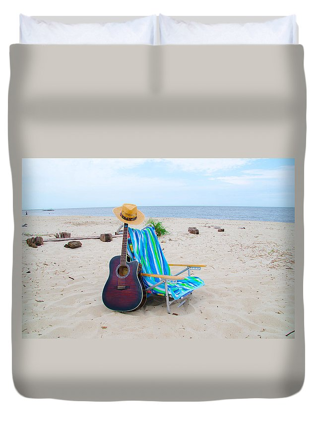 Beach Duvet Cover featuring the photograph Beach Music by Bill Cannon