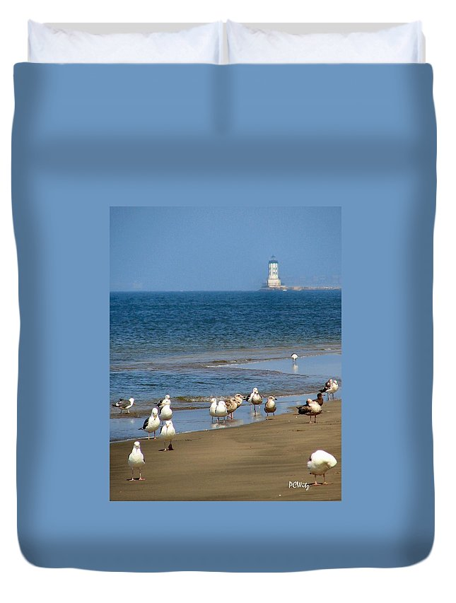 Beach Party Duvet Cover featuring the photograph Beach Party by Patrick Witz