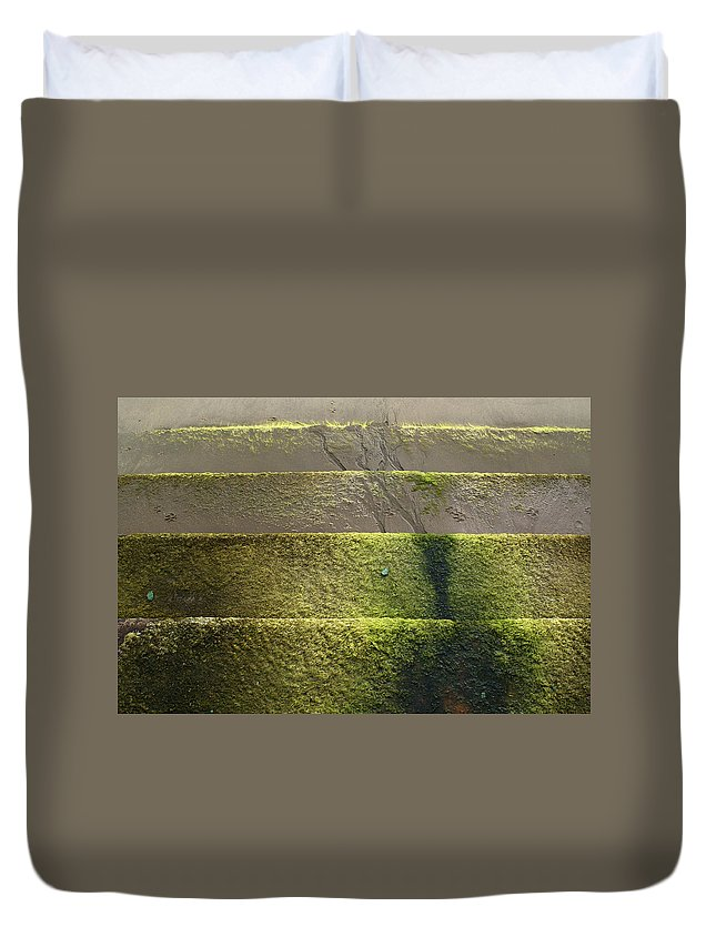 Sand Duvet Cover featuring the photograph Beach Steps 2 by Ron Harpham