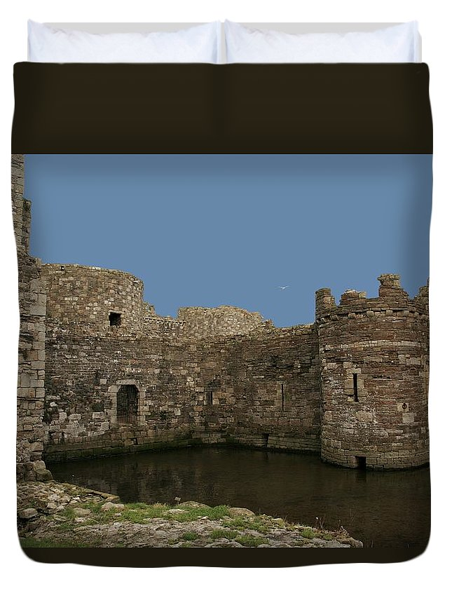 Castles Duvet Cover featuring the photograph Beamaris Castle by Christopher Rowlands