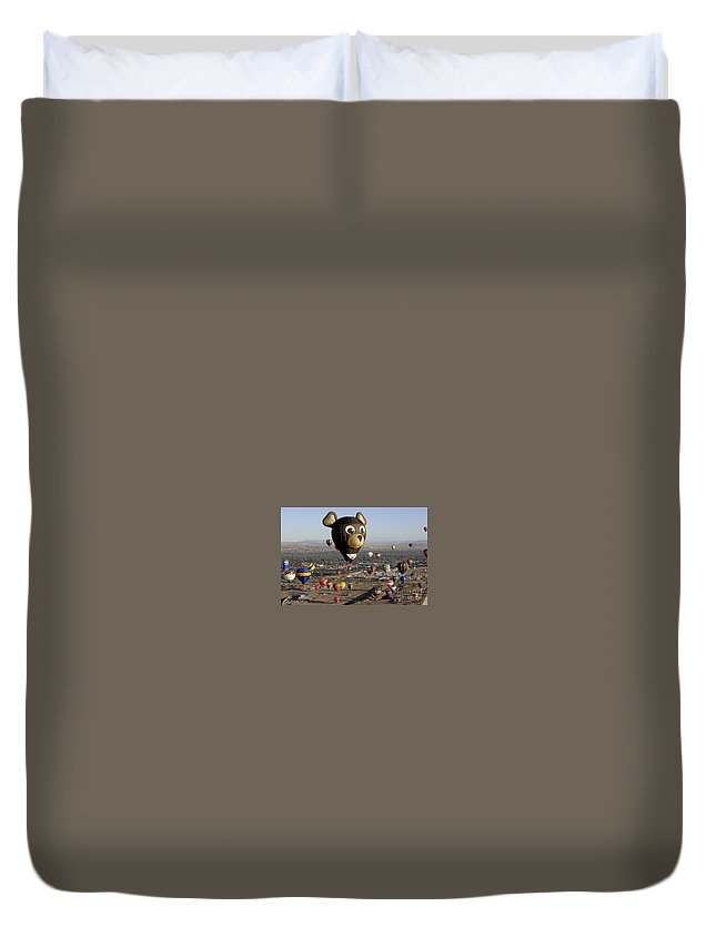 Albuquerque Duvet Cover featuring the photograph Bear by Mary Rogers