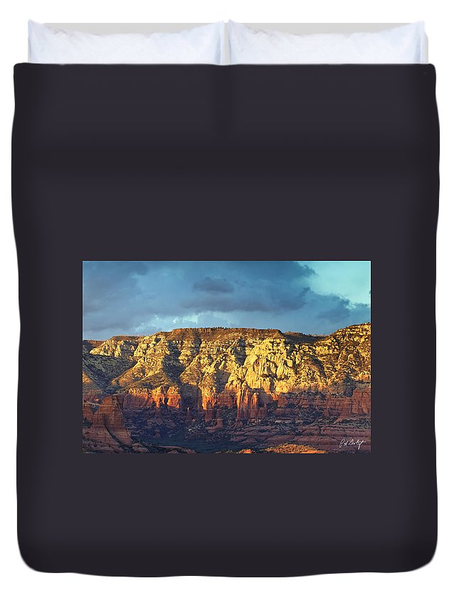 Arizona Duvet Cover featuring the photograph Bear Mountain by Phill Doherty