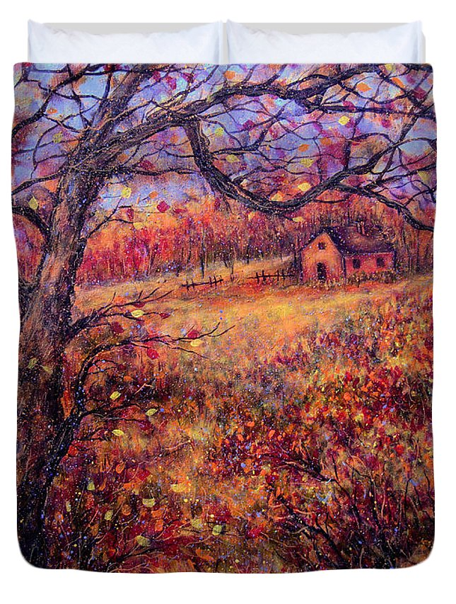 Autumn Duvet Cover featuring the painting Beautiful Autumn by Natalie Holland