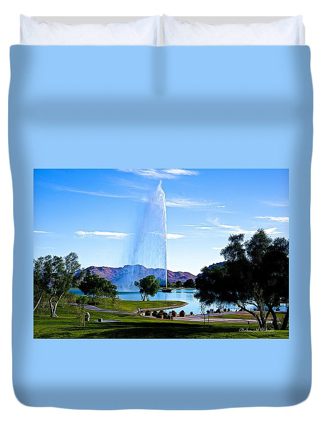 Fountain Duvet Cover featuring the photograph Beautiful Fountain by Barbara Zahno