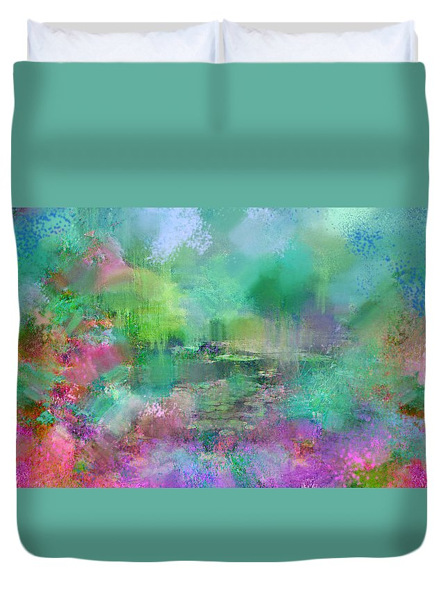 Giverny Duvet Cover featuring the photograph Beautiful Giverny by Carla Parris