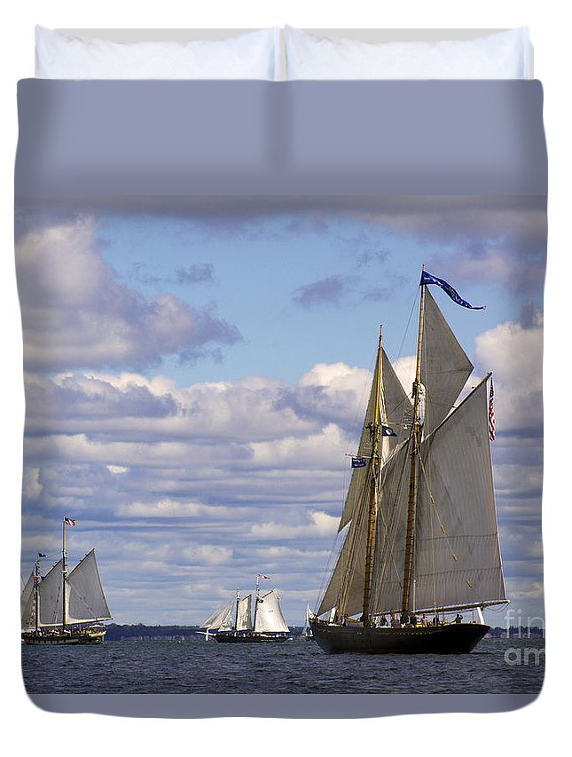 Yacht Duvet Cover featuring the photograph Beautiful History by Joe Geraci