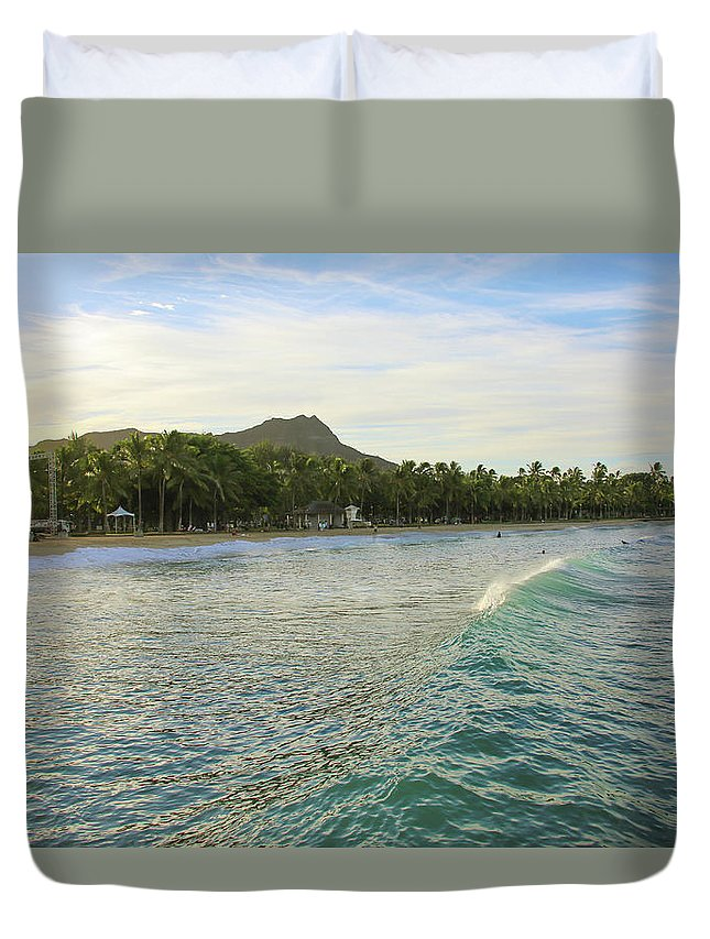 Scenics Duvet Cover featuring the photograph Beautiful Kuhio Beach by Daniela Duncan