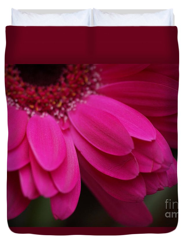 Pink Duvet Cover featuring the photograph Beautiful Petals by Carol Lynch