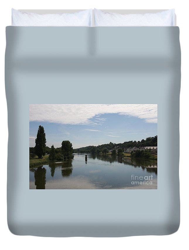 River Duvet Cover featuring the photograph Beautiful River Loire by Christiane Schulze Art And Photography