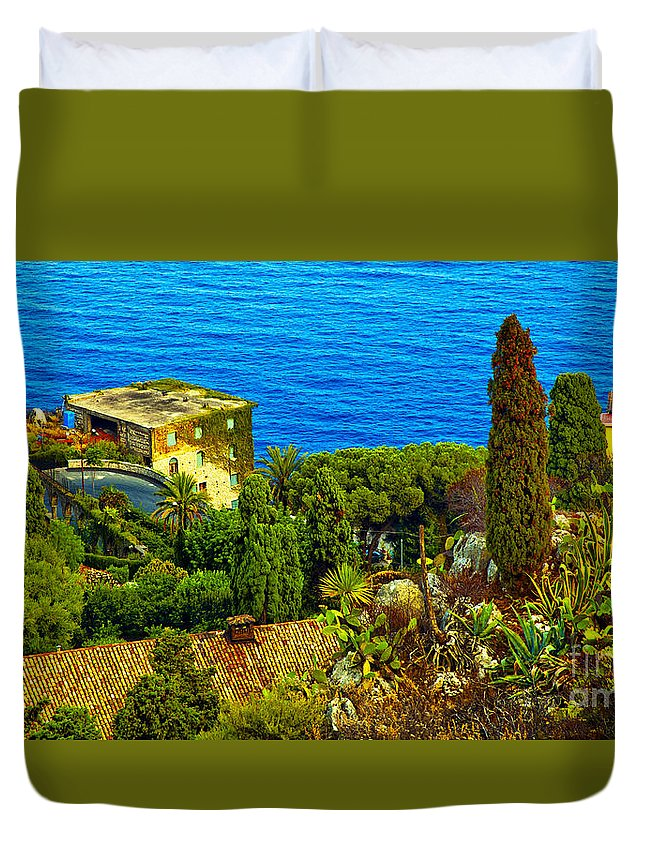 Landscape Duvet Cover featuring the photograph Beautiful Sicily by Madeline Ellis
