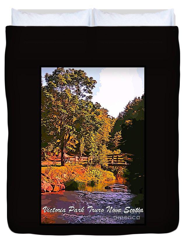 Beautiful Victoria Park Truro Nova Scotia Duvet Cover featuring the photograph Beautiful Victoria Park Truro Nova Scotia by John Malone